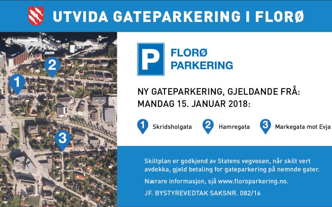 Utvida gateparkering i Florø